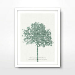 TREE GREEN ART PRINT Poster Home Decor Wall Trees Picture Artwork 10 SIZES GBP 21.99