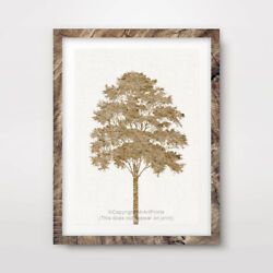 TREE YELLOW ART PRINT Poster Home Decor Wall Trees Picture Artwork A4 A3 A2 GBP 16.99