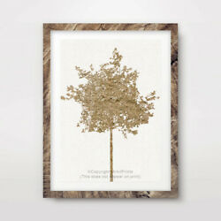 TREE YELLOW ART PRINT Decor Wall Trees Picture 8x10 11x14 12x16 16x20 quot; inches GBP 16.99