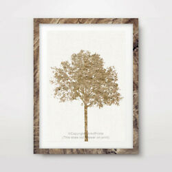 TREE YELLOW ART PRINT Design Home Decor Wall Trees Picture Artwork 10 SIZES GBP 16.99