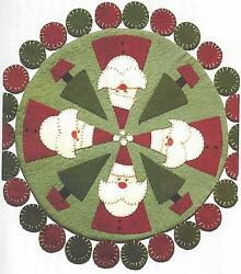 Santa's Tree Farm applique wool felt penny rug quilt pattern by Cleo
