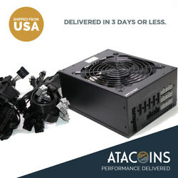 New 1600W ATX Gold Mining Power Supply SATA IDE 6 GPU suits for ETH BTC Ethereum