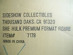 K1834539 SHE HULK MISB PREMIUM FORMAT SIDESHOW COLLECTIBLES MINT IN SEALED BOX
