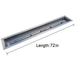 Stanbroil Stainless Steel Linear Trough Drop-In Fire Pit Pan and Burner 72...