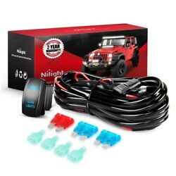 12ft LED Light Bar Wiring Harness Kit 12V Fuse Relay ONOFF 5Pin Rocker Switch $15.99