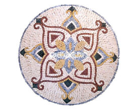 Marble Countertops Table Mosaic Collectible Inlay Special Art Patio Decor H3901