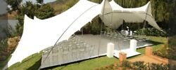 Commercial Wedding Event Yard Beach Patio Pool Coated Bedouin Stretch Tent NEW