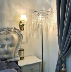 K9 Crystal Bedroom Landing Lights Chrome Modern LED Living Room Floor Lamp $229.99