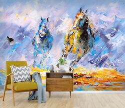 3D Animal Horse 838 Wall Paper Print Wall Decal Deco Indoor Wall Murals US Lemon