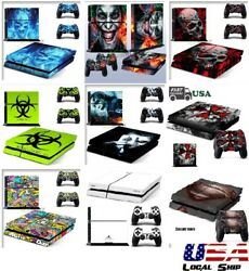 Customized Vinyl Decal Sticker Skins Cover for Sony PS4 Console