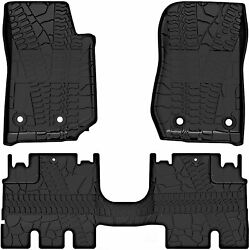 Fit for 2007 2018 Jeep Wrangler JK 4 Door Unlimited Slush Floor Mats All Weather $66.99
