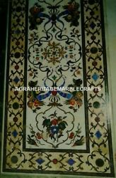 5'x3' Marble Rectangle Dining Table Inlay Marquetry Patio Living Art Decor H3125