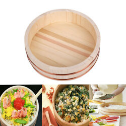 Sushi Oke Rice Tub Wooden Mixing Bowl Hangiri with Copper Band 10-28'' Diameter $38.99
