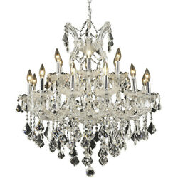 2800 Maria Theresa Collection Chandelier D:30in H:28in Lt:19 Chrome Finish (S...
