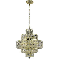 2039 Maxime Collection Chandelier D:20in H:21in Lt:13 Gold Finish (Royal Cut ...