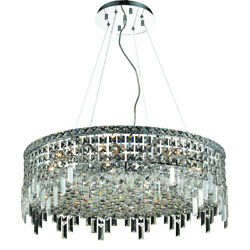 2031 Maxime Collection Chandelier D:28in H:10.5in Lt:12 Chrome Finish
