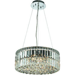 2030 Maxime Collection Chandelier D:20in H:7.5in Lt:12 Chrome Finish