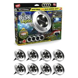 Bell Howell Disk Lights Solar Powered LED Outdoor Lights As Seen on TV 8 PACK