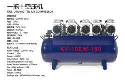 KY One Driving Ten 180L Medical Noiseless Oilless Dental Air Compressor CE FLY
