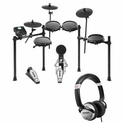 Alesis Nitro Mesh 8 Piece Electronic Drum Kit with Sticks + Headphone +10' Cable $389.95