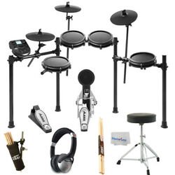 Alesis Nitro Mesh 8 Piece Electronic Drum Kit Essentials BUNDLE $469.95