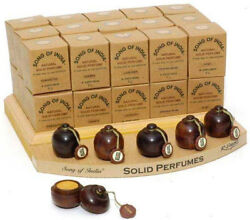 Song of India - Natural Solid Perfumes in Rosewood Jar - 6g - FREE SHIPPING