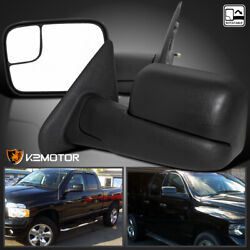02-08 Dodge Ram 150003-09 2500 3500 Tow Extend FlipUp Manual Mirrors Left+Right $84.38