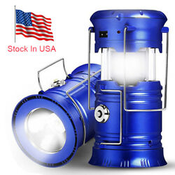 Portable Camping Hiking Portable Solar Lantern AC Rechargeable Tent Hiking Light