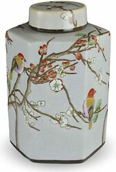 Classic Famille Rose Porcelain Vase Birds and Cherry Blossom,hand-painted He...