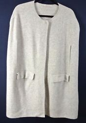 NEW Nordstrom Signature Sample Piece Cashmere Sweater Vest- One Size Soft grey
