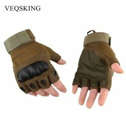 Men#x27;s Military Tactical Gloves Fingerless Hiking Hunting Gloves Outdoor Sport Gl $13.67
