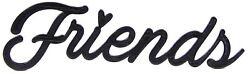 Friends Word Art Sign Home Kitchen Decor Wall Hanging Cursive Script Typography $9.99