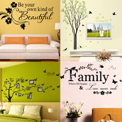 Family Tree Wall Decal Sticker Large Vinyl Photo Picture Frame Home Room Decor $5.35