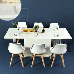 6 PCS Dining Chairs Expandable Wooden Table Modern Dining Room Furniture for 4 8 $375.79