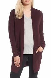 NEW Nordstrom Collection Cashmere Open Front Cardigan- S