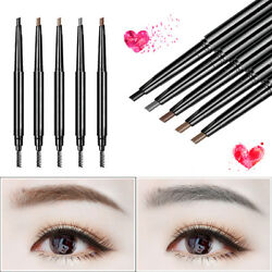 2 Pack Eyebrow Pencil Retractable Slant Tip with Brush Double-end Waterproof $6.57