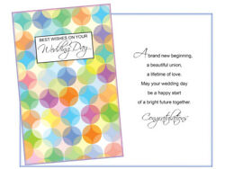 For Your Wedding ~ Single Greeting Card w Envelope