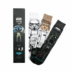 STANCE MENS BLACK ROGUE ONE STAR WARS GIFT SET CREW SOCKS $59.99