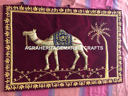 Kashmiri Carpet Camel Handmade Art Indoor Outdoor Plush Rug For Gift Decor M119