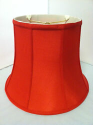 12quot;Red Silk Lampshade Modify Bell Shape Fabric Lamp Shade Spider Fitter NEW $76.95