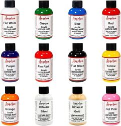 Angelus acrylic leather paint  Dye 4 oz bottle NEW For Shoes Bags Boots (Colors