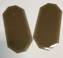 1Vintage Beveled 8 Sided Starburst Amber Glass Panel Lamp Chandelier Replacement $9.99