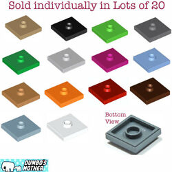 Lego 2x2 Tile Plate Center Stud amp; Bottom Groove Many Colors You Pick NEW X20 $2.69