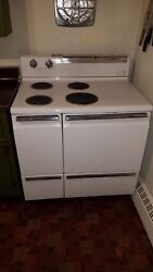 1950#x27;s GE Electric Vintage Stove Spacemaker36 J362 white $375.00