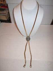 JUDITH LEIBER GOLD TONE LARIAT NECKLACE - SPECTACULAR CRYSTALS - OFC3