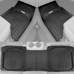 Waterproof TriFlex Rubber Floor Mats for Car Van SUVs Truck w Rear Liner Black $39.99