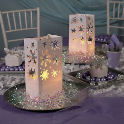 12 Christmas Winter Holiday Party Decorations SNOWFLAKE LUMINARY BAGS Frozen $9.95