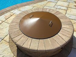 Round Metal Gas-Wood Fire Pit Campfire Ring Cover 43