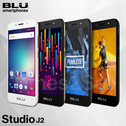 Blu Studio J2 Unlocked 5'' 4G Factory Unlocked Smart Phone Android 8GB New