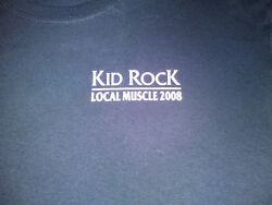 KID ROCK LOCAL MUSCLE 2008 TOUR LOCAL CREW T SHIRT XL $17.99